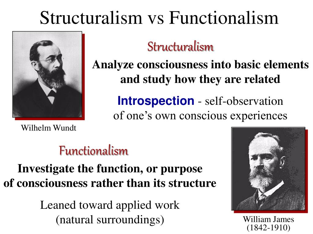 Structuralism vs Functionalism