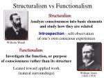 structuralism vs functionalism