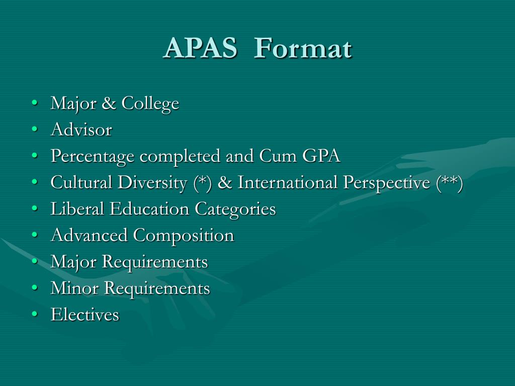 APAS  Format