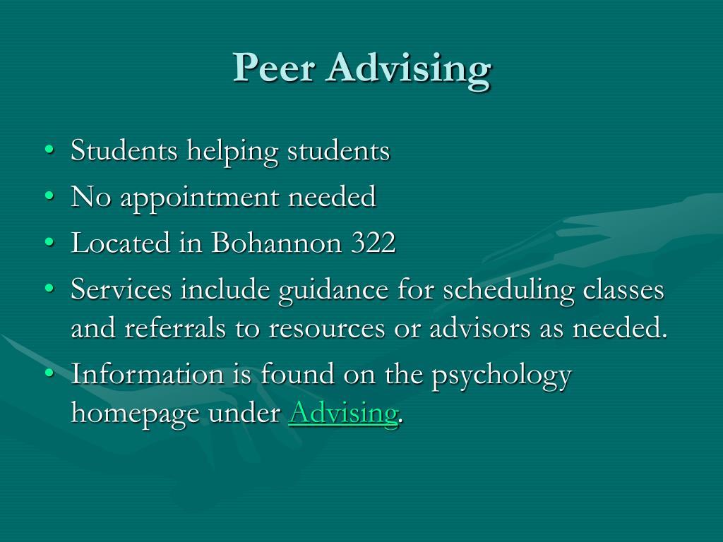 Peer Advising