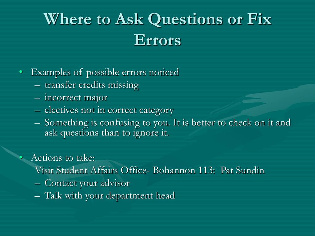 Where to Ask Questions or Fix Errors