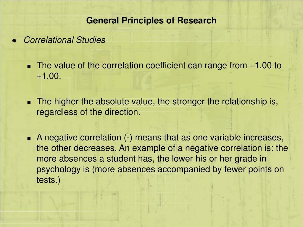 General Principles of Research