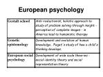 european psychology