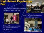 high school psychology fair