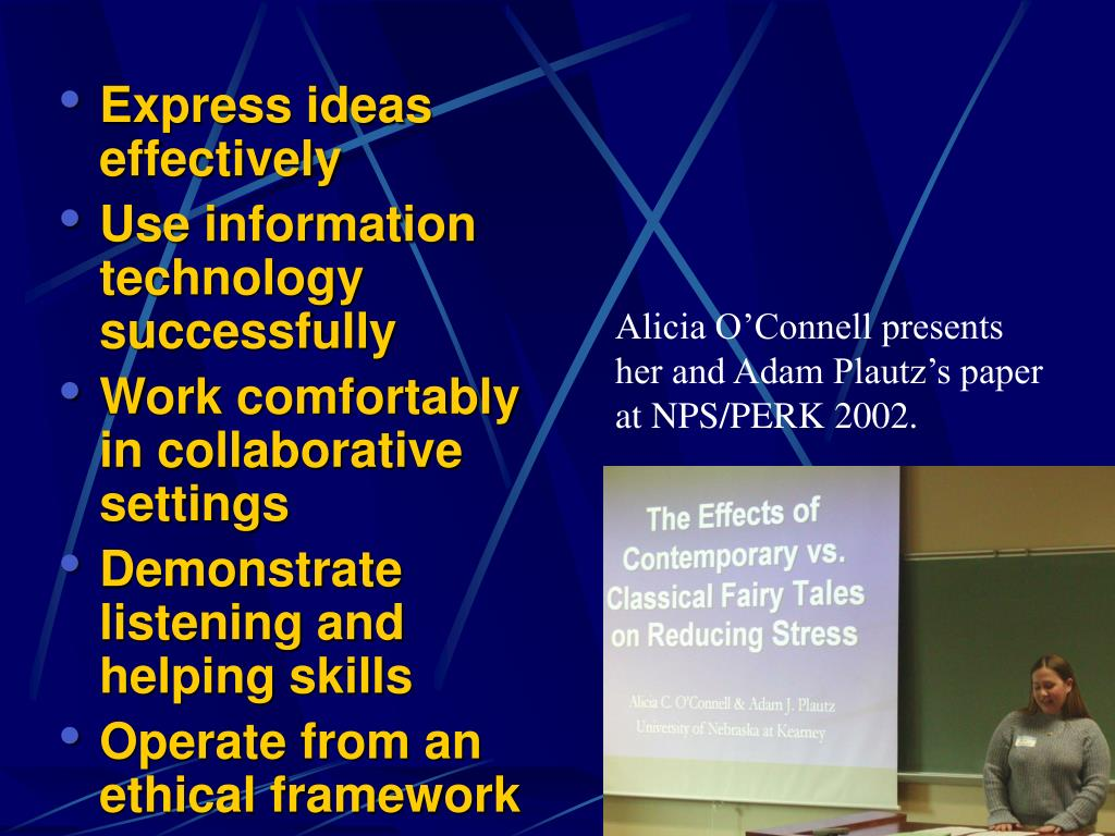 Express ideas effectively