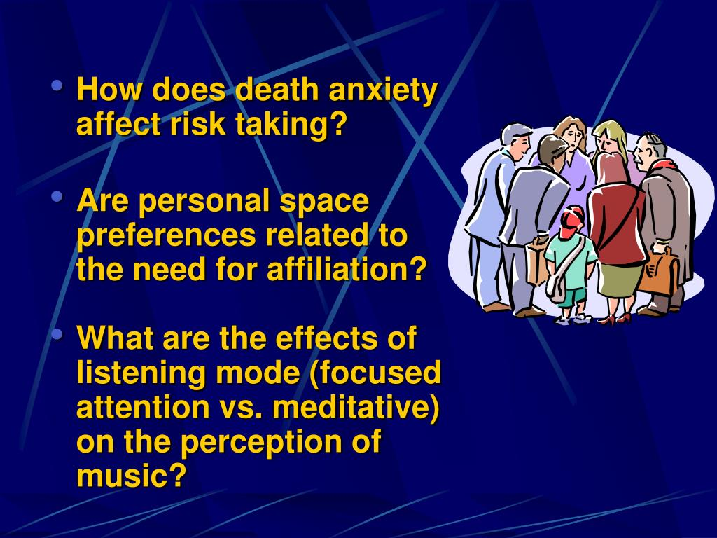 How does death anxiety affect risk taking?