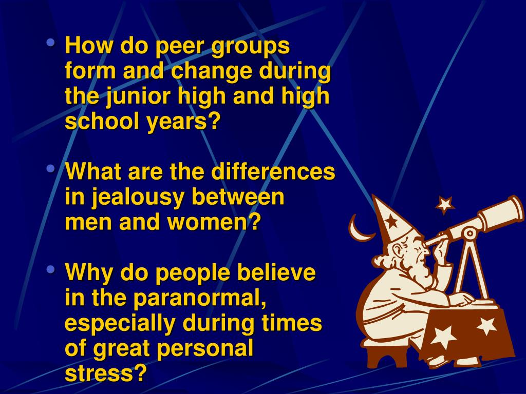 How do peer groups form and change during the junior high and high school years?