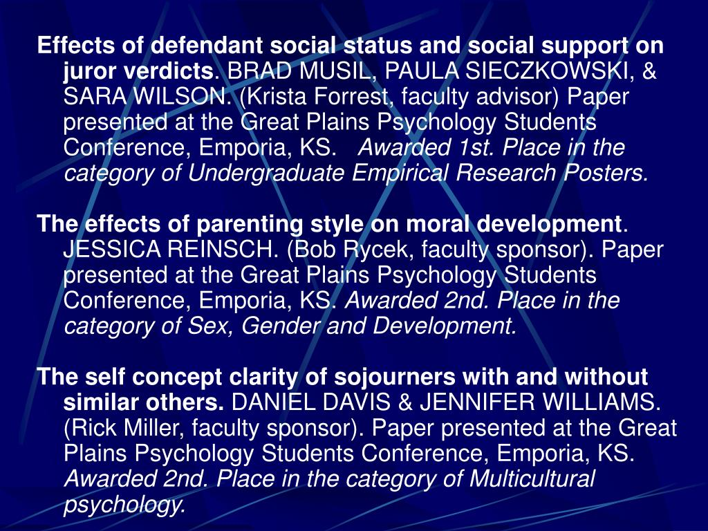 Effects of defendant social status and social support on juror verdicts