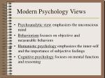 modern psychology views59