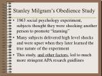 stanley milgram s obedience study