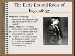 the early era and roots of psychology21