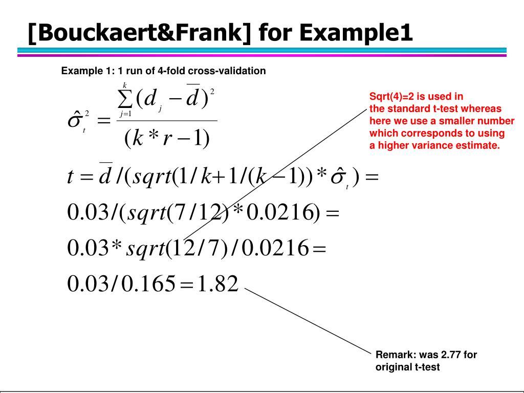[Bouckaert&Frank] for Example1