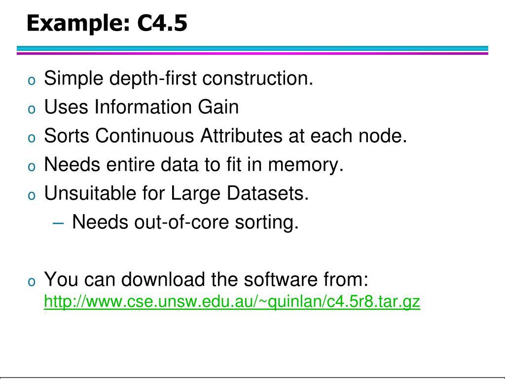 Example: C4.5