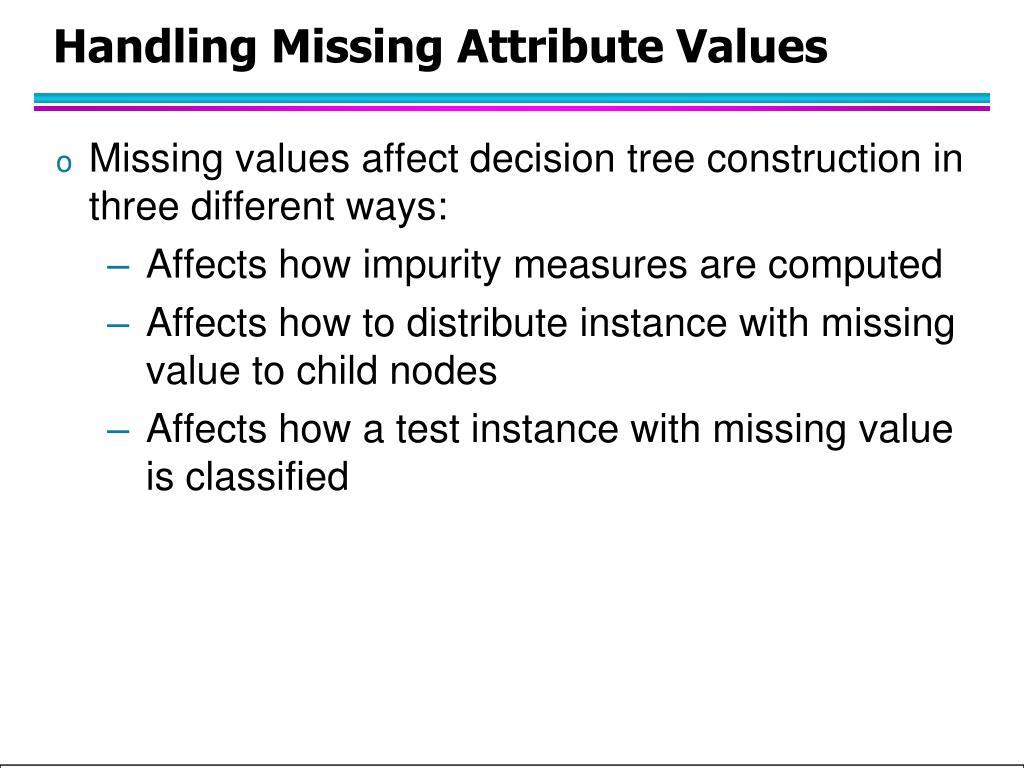 Handling Missing Attribute Values