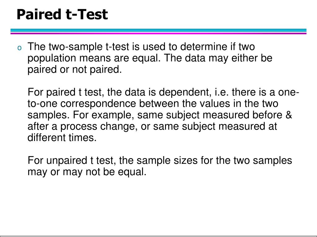Paired t-Test
