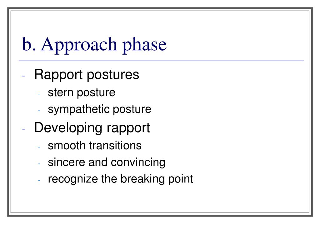 b. Approach phase