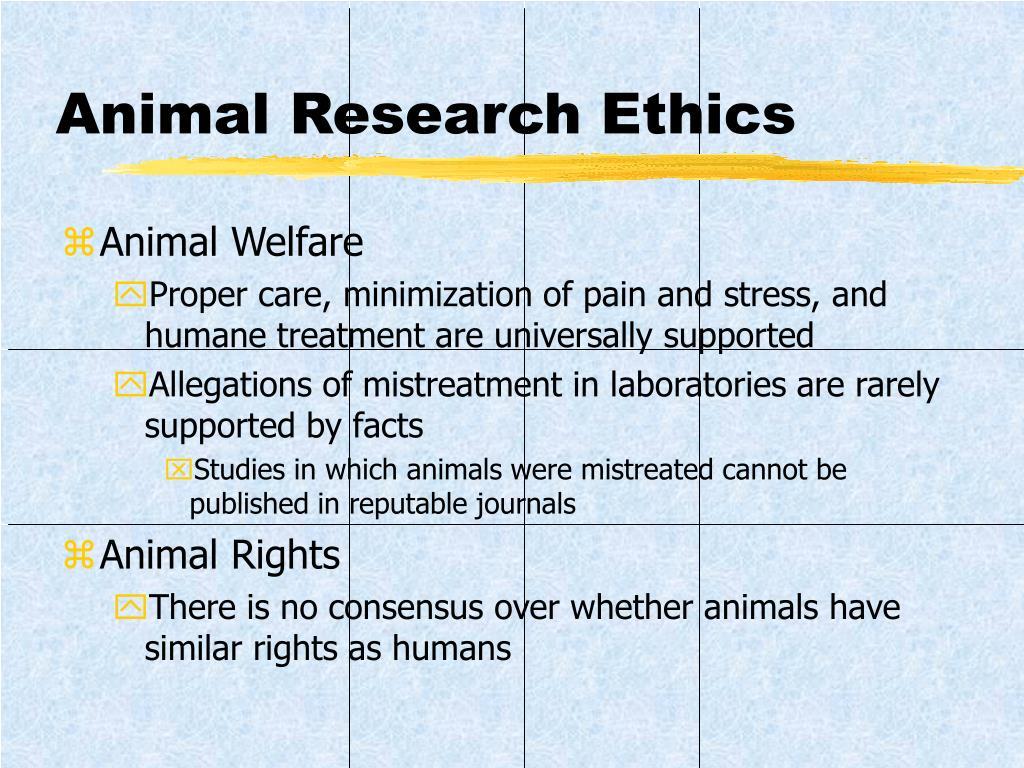 Animal Research Ethics