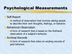 psychological measurements
