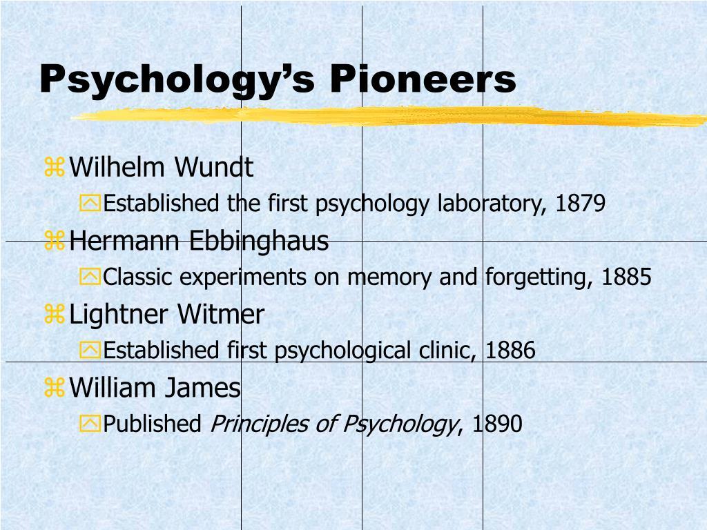 Psychology's Pioneers
