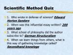 scientific method quiz30