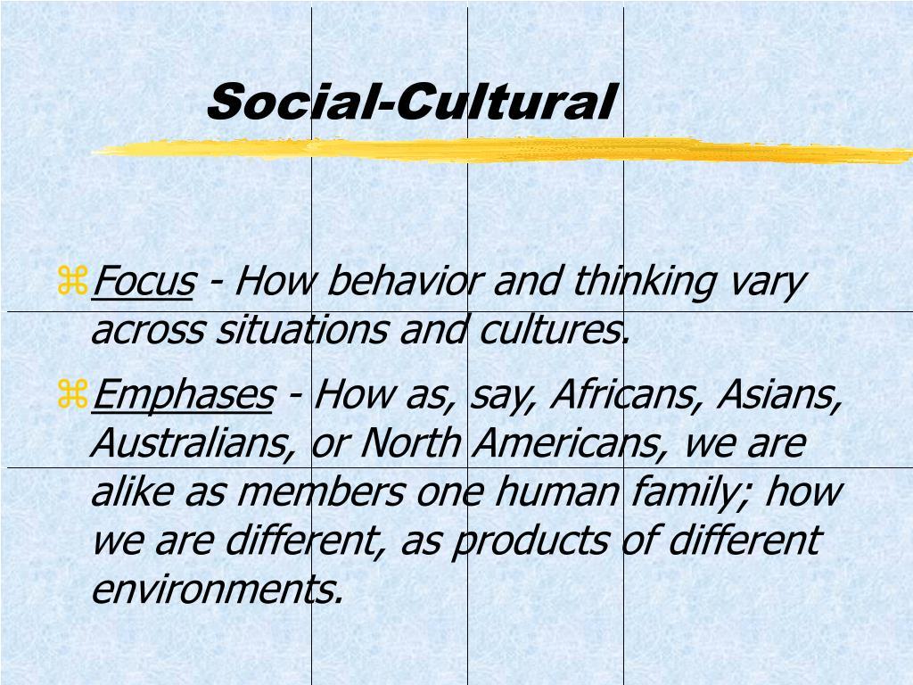 Social-Cultural