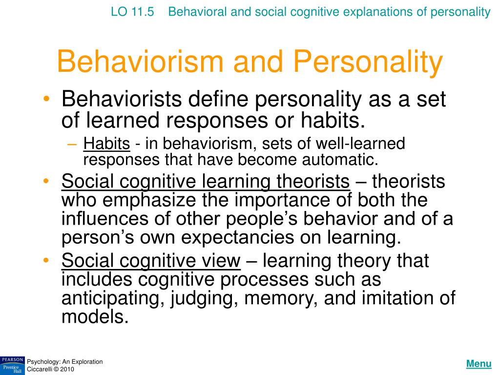 behavioral social cognitive views of