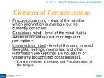 divisions of consciousness