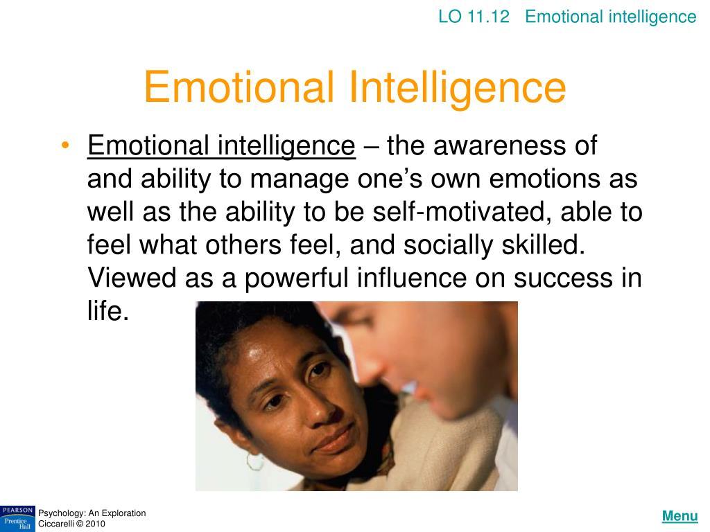 LO 11.12   Emotional intelligence