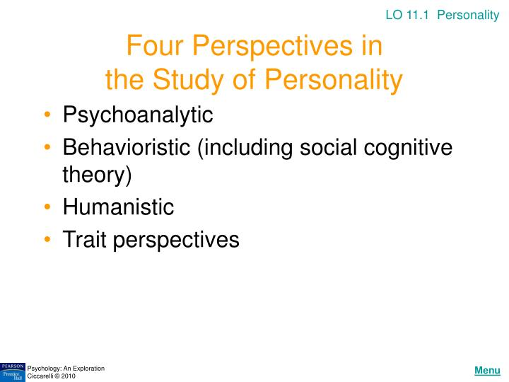 Four perspectives in the study of personality
