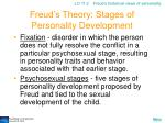 freud s theory stages of personality development
