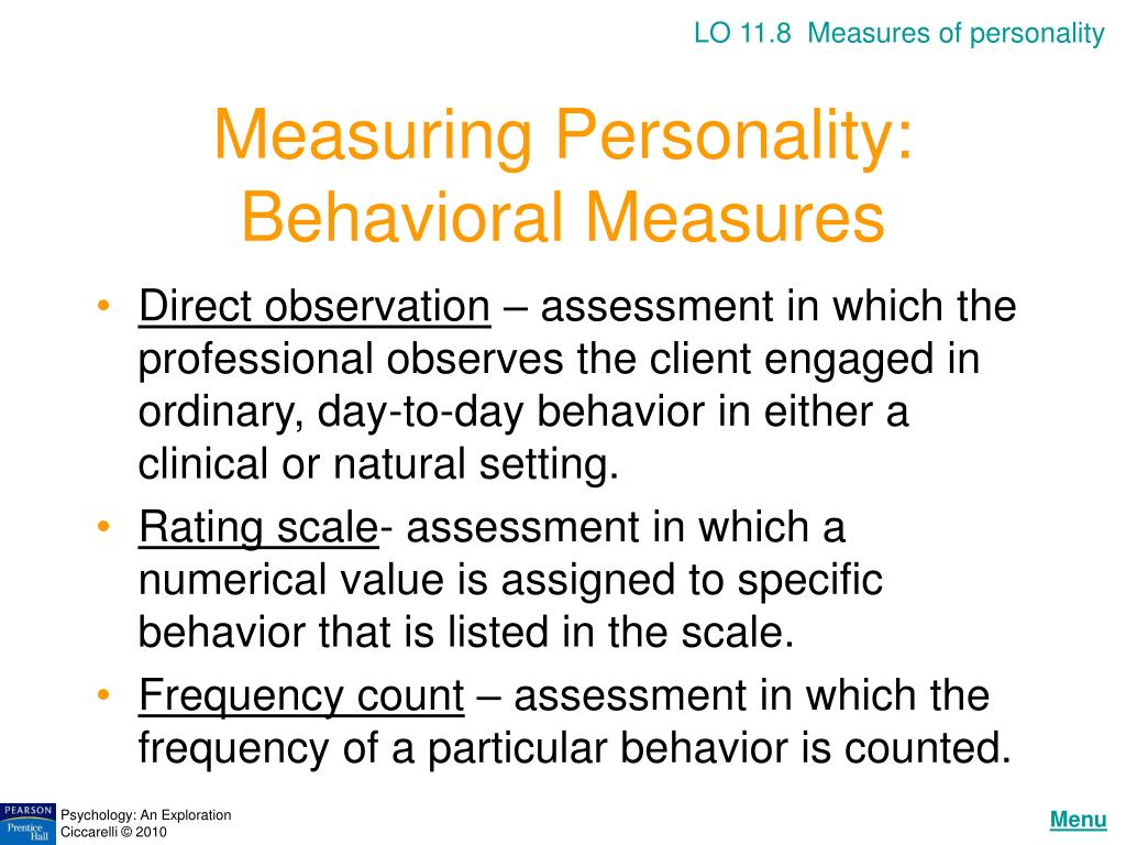 LO 11.8  Measures of personality