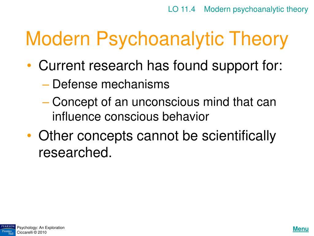 LO 11.4    Modern psychoanalytic theory