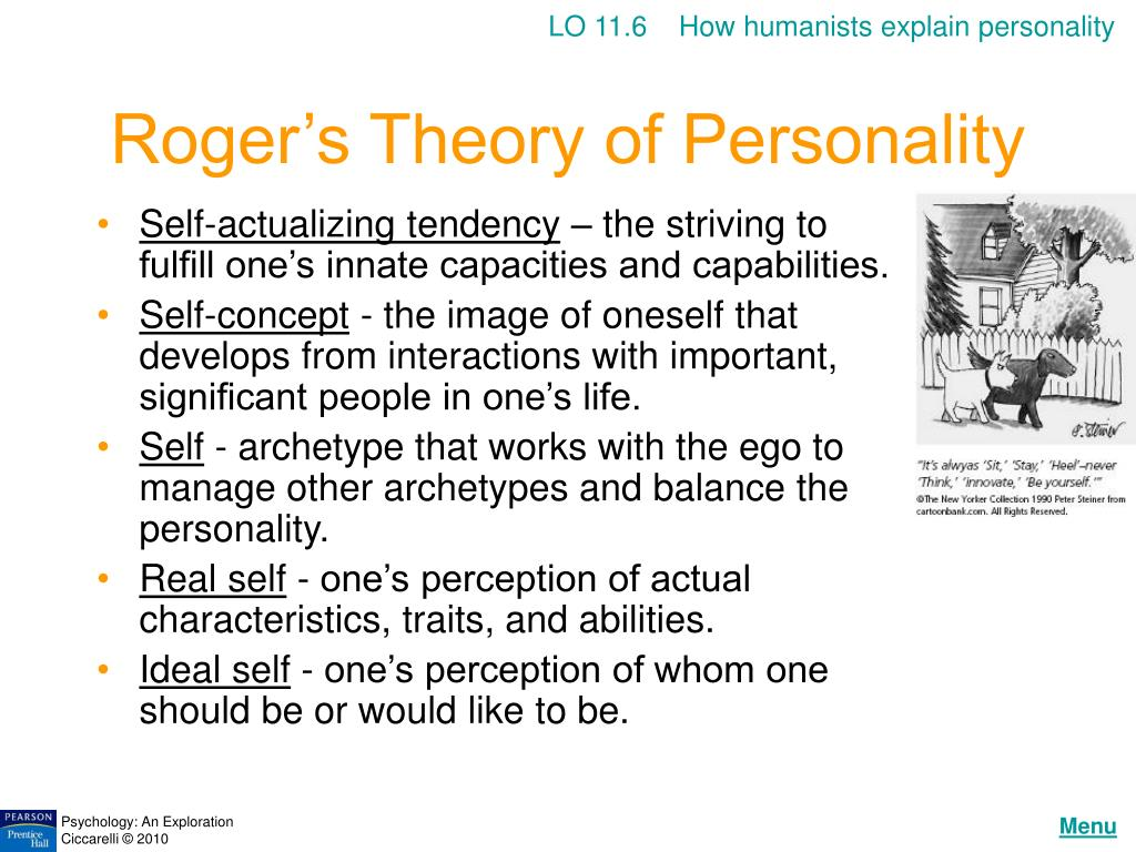 LO 11.6    How humanists explain personality