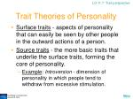 trait theories of personality28