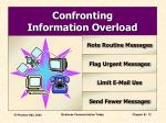 confronting information overload