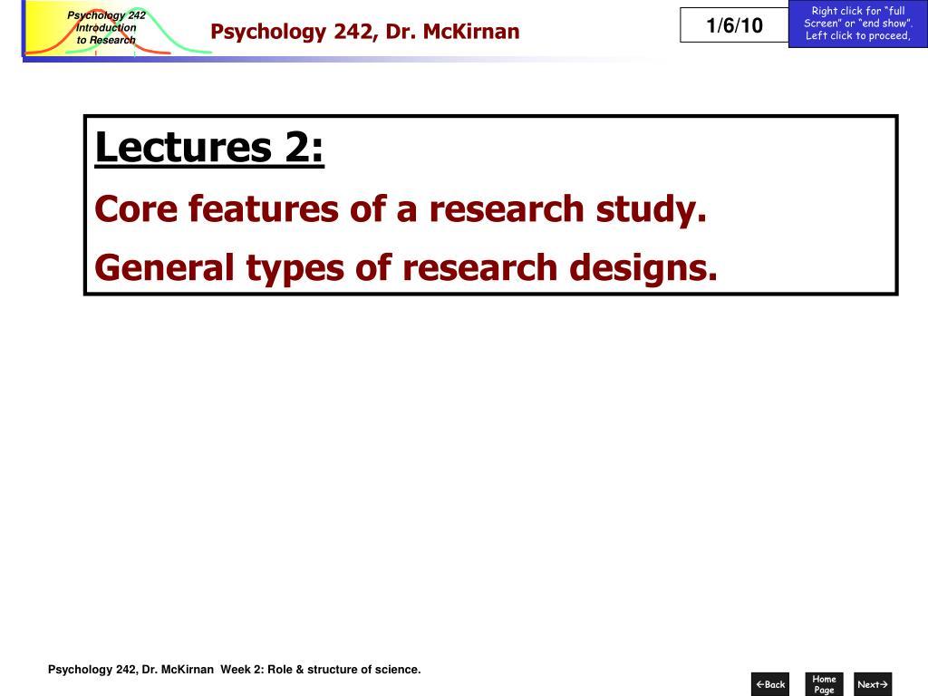 psychology 242 dr mckirnan l.