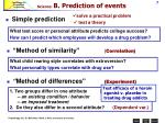 science b prediction of events