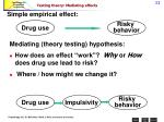 testing theory mediating effects
