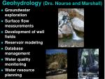 geohydrology drs nourse and marshall