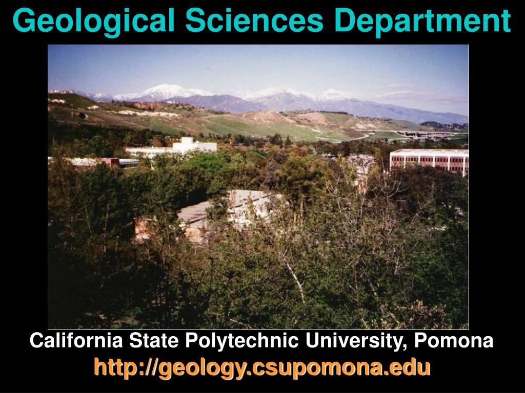 geological sciences department l.