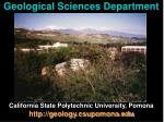 geological sciences department
