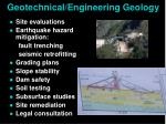 geotechnical engineering geology