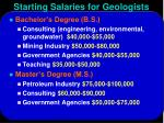 starting salaries for geologists