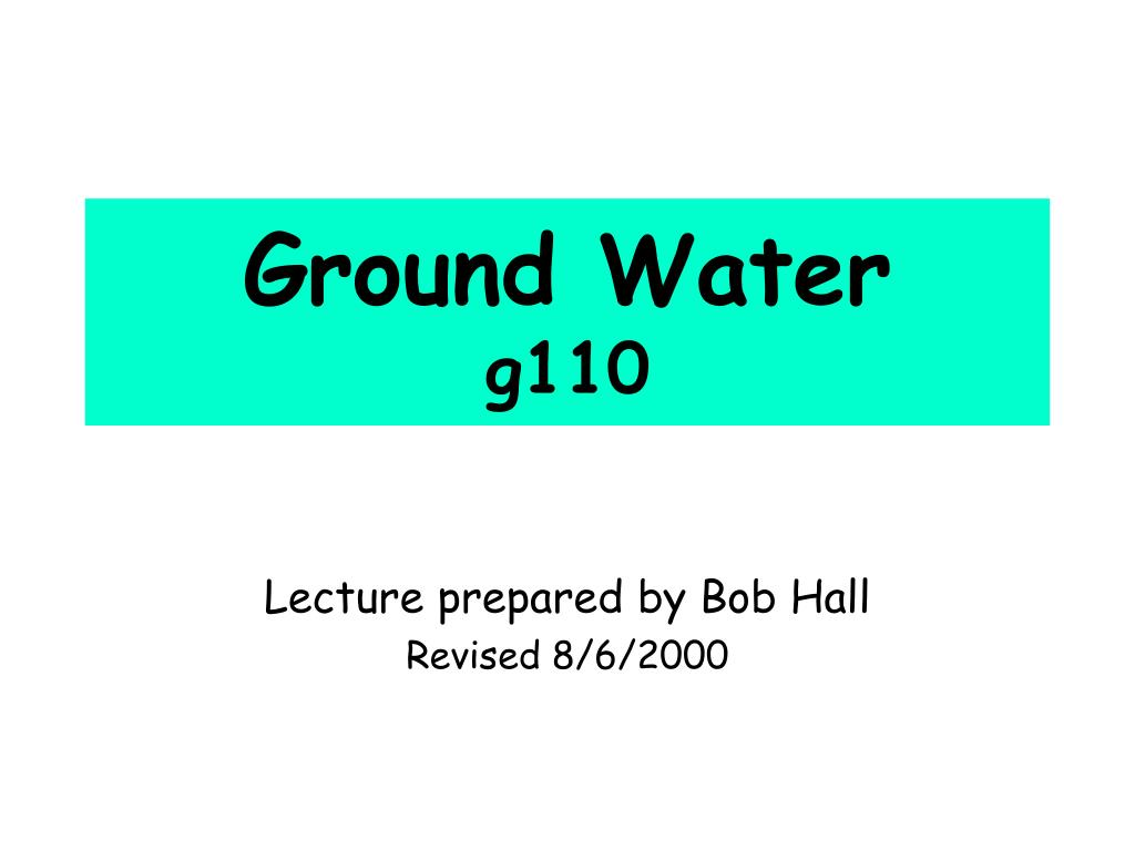 ground water g110 l.