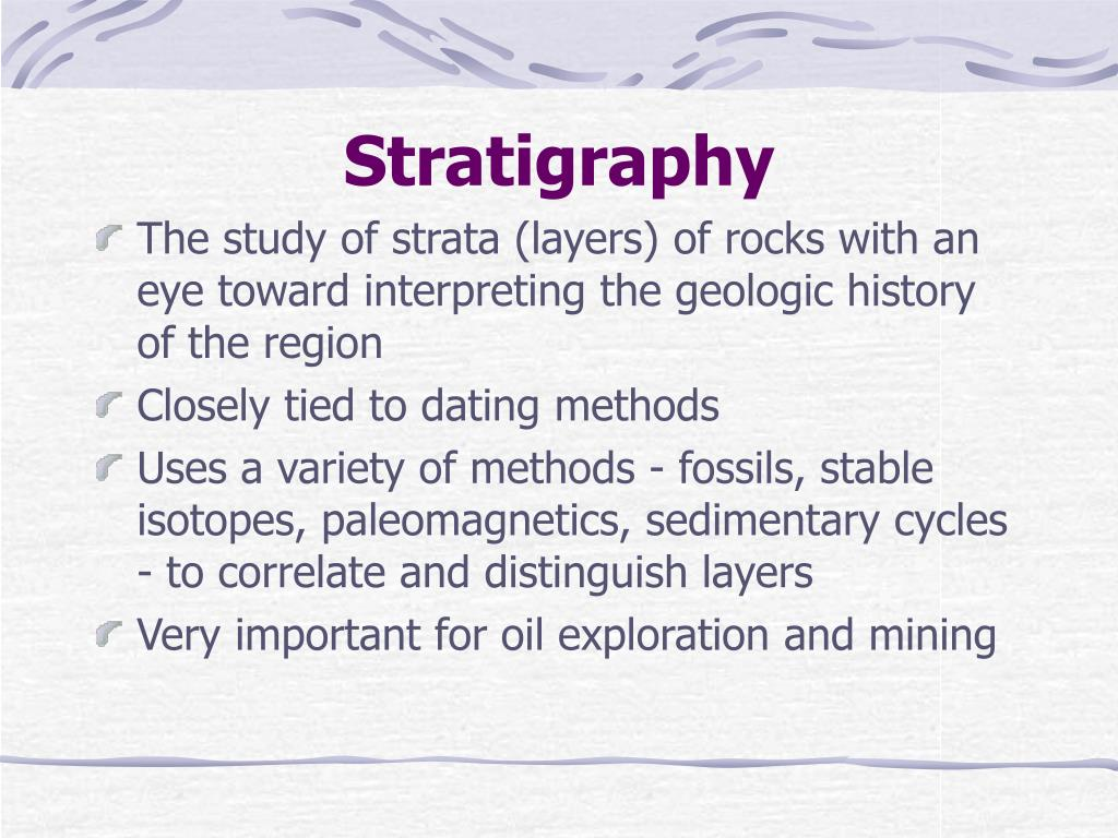 stratigraphy l.