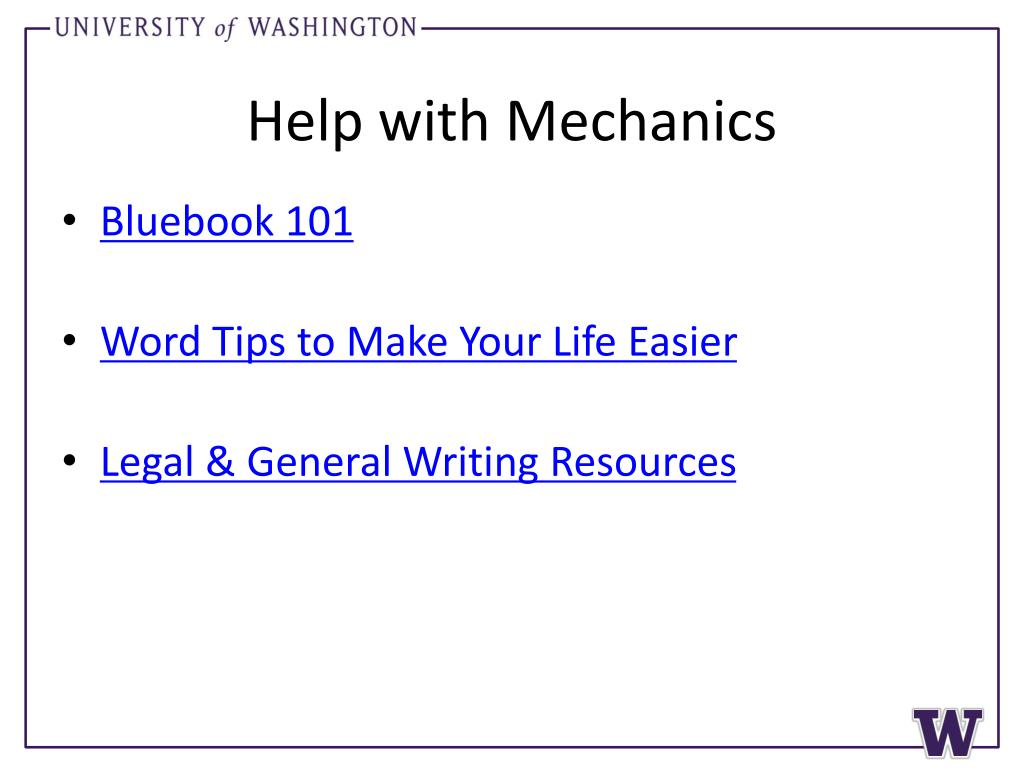 Help with Mechanics