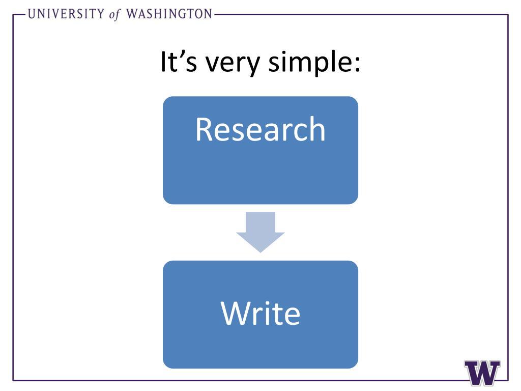 It's very simple: