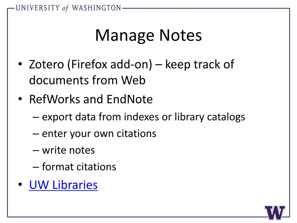 Manage Notes