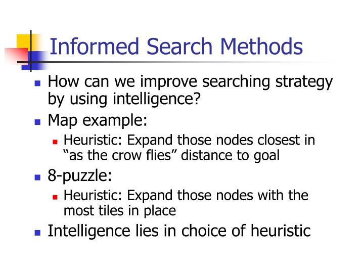 informed search methods n.