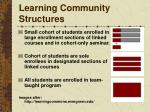 learning community structures
